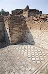 Mosaïques, la Villa d'Hadrien, Site du patrimoine mondial de l'UNESCO, Tivoli, Rome, Lazio, Italie