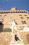 The David statue, Palazzo Vecchio, Piazza della Signoria, Florence, UNESCO World Heritage Site, Tuscany, Italy, Europe