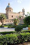 Jardins de cathédrale, Palerme, Sicile, Italie, Europe