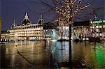 Magasins du Nord at Christmas, Kongens Nytorv, Copenhagen, Denmark, Scandinavia, Europe