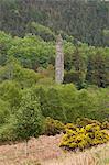 Le 6ème siècle monastère St. Kevin de Glendalough, comté de Wicklow, Leinster, République d'Irlande (Eire), Europe