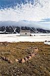 Inuit Ausgrabungsstätte und verlassenen RCMP Post und Postamt, Craig Harbour, Ellesmere-Insel, Nunavut, Kanada