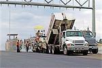 Workers Paving Road, Calgary, Alberta, Canada