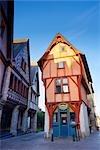Medieval Half Timbered Building, Vitre, Ille-et-Vilaine, Brittany, France