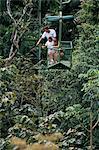 Aerial tramway sur forêt couvert, Parc National de Soberania, Gamboa, Panama amerique centrale