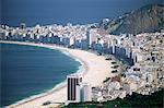 Aerial view of Copacaban, Rio de Janeiro, Brazil, South America