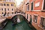 Rio di San Luca et Ponte de la Cortesia, Venise, Vénétie, Italie, Europe