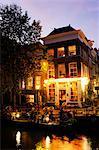 Egelantiersgracht, Amsterdam, Pays-Bas (Hollande), Europe