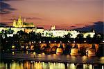 Prague Castle and Charles Bridge, Prague, Czech Republic, Europe