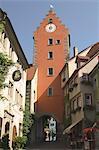 Porte de la ville, Meersburg, Bade-Wurtemberg, lac de Constance, Allemagne, Europe