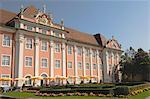 Café jardin, jardin de l'hôtel de ville, Meersberg, Baden-Wurttemberg, lac de Constance, Allemagne, Europe