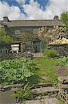 Hügel, die Startseite von Beatrix Potter, aus dem Küchengarten, nahe Sawrey, Lake District-Nationalpark, Cumbria, England, Vereinigtes Königreich, Europa