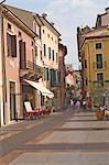 A street in Lazise, Lake Garda, Veneto, Italy, Europe
