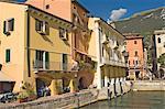 The harbourside at Malcesine, Lake Garda, Veneto, Italy, Europe