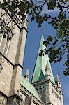 Nidarosdomen Og Cathedral detail, Trondheim, Norway, Scandinavia, Europe