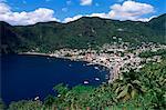 Vue sur la Soufrière, Sainte-Lucie, îles sous-le-vent, Antilles, des Caraïbes, Central America