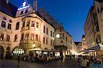 Restaurant Hofbrauhaus Platzl Square, plus célèbre hôtel de la bière de Munich, Munich, Bavière, Allemagne, Europe