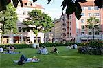 La belle Gartnerplatz autour de l'Europe branché du quartier, Munich, Bavière, Allemagne, Glockenbachviertel