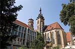 Église Stiftskirche, Stuttgart, Bade Wurtemberg, Allemagne, Europe