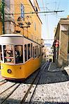 Funicular at Elevador da Bica, Lisbon, Portugal, Europe