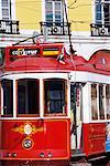 Electrico (electric tram), Lisbon, Portugal, Europe