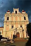 St. Casimir's, the oldest baroque church in the city, Didzioji Gatve, Vilnius, Lithuania, Baltic States, Europe