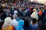 Story teller at Djemaa el Fna, Marrakesh, Morocco, North Africa, Africa