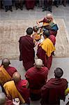 Cérémonie bouddhiste tibétain pour célébrer le nouvel an (Lhosar), Samtenling monastère, la Bodhnath, Katmandou, Népal, Asie