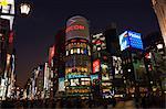 Quartier commerçant de Ginza au crépuscule, Tokyo, Honshu Central (Chubu), Japon, Asie