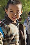 Portrait de garçon chinois, Beijing, Chine, Asie