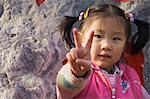 Portrait de fille chinoise, Pékin, Chine, Asie