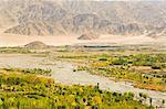 Indus Valley and Ladakh Range, Ladakh, Indian Himalayas, India, Asia