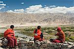 Bouddhiste de jeunes moines, Ladakh, Inde Himalaya, Inde, Asie