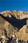 Chortens, Lamayuru gompa (monastère), Lamayuru, Ladakh, Himalaya indien, Inde, Asie