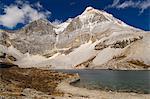 Dauzhengcuo (lac des cinq couleurs) et Xiannairi montagne, réserve naturelle de Yading, Province du Sichuan, Chine, Asie