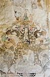 Wall painting, Sulamani Pahto, Bagan (Pagan), Myanmar (Burma), Asia