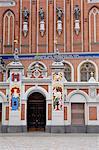 Maison des points noirs, Ratslaukums (place de la mairie), Riga, Lettonie, pays baltes, Europe