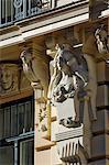 Architecture Art Nouveau, 13 Alberta iela, Riga, Lettonie, pays baltes, Europe
