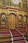 Intérieur de l'église de la Sainte mère de Dieu, Vilnius, Lituanie, pays baltes, Europe