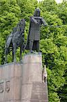 Statue of Gediminas, Grand Duke of Lithuania and founder of Vilnius, Vilnius, Lithuania, Baltic States, Europe