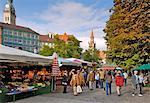Viktualienmarkt, épicerie, Munich (München), Bavière (Bayern), Allemagne, Europe