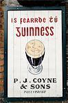 Guinness sign in Irish speaking Gaeltacht area, Tully Cross, Connemara, County Galway, Connacht, Republic of Ireland, Europe