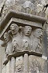 Détail sculpté, Kilfenora cathédrale, comté de Clare, Munster, Irlande, Europe