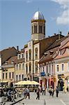Orthodox cathedral, Piata Sfatului (Council Square), Brasov, Transylvania, Romania, Europe