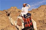 Beduinen Reiten Kamel, Sinai, Ägypten, Nordafrika, Afrika