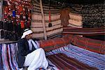 Innenraum eines Beduinen-Zelt, Sinai, Ägypten, Nordafrika, Afrika