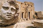 Settimius Severus (Septimus Severus) Forum, Leptis Magna, UNESCO World Heritage Site, Tripolitania, Libya, North Africa, Africa
