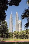 Petronas Towers, Kuala Lumpur, en Malaisie, l'Asie du sud-est, Asie
