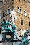 La fontaine de Neptune, Piazza della Signoria, l'UNESCO World Heritage Site, Florence, Toscane, Italie, Europe