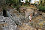 Nécropole étrusque de la Peschiera, Tuscania, Viterbo, Latium, Italie, Europe